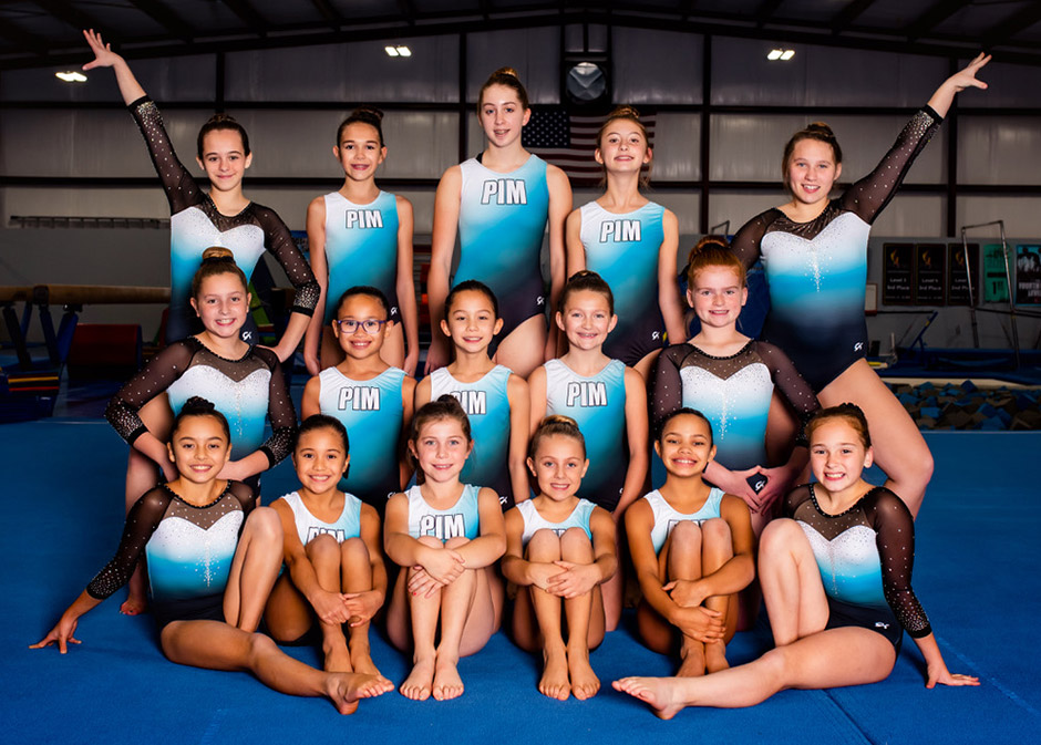 2020 girls xcel gymnastics team photo